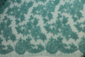 Mint Corded Lace