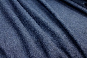 Boiled Wool Jersey Knit - Navy