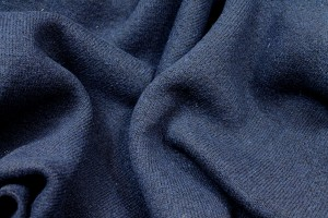 Boiled Wool Heavy Knit - Navy