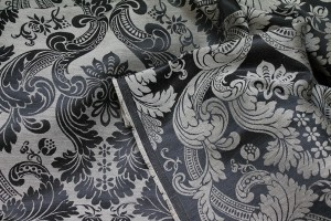 Linen Brocade - Black/Natural