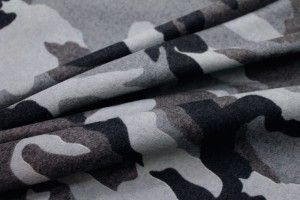 Camo Print Wool - Black Grey