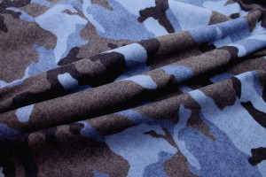 Camo Print Wool - Blue Grey