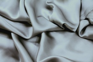 Metal Grey Silk Satin - 140cm wide