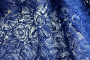 Royal Blue Tulle Applique Flowers
