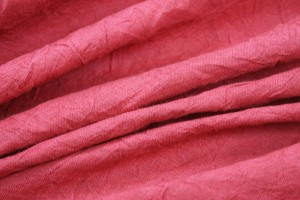 Red Crinkled Linen