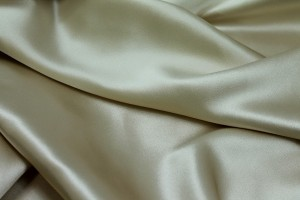 Silk Satin Backed Crepe - Pale Gold