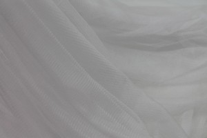 Soft Silk Tulle - White
