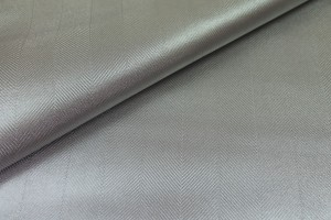 Leather Skin - Silver Metallic Herringbone
