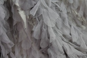 Petal Tulle on Silk Chiffon - Mid Grey