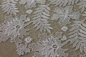 Guipure Lace - Delicate Silver Floral