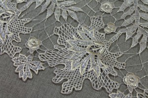 Guipure Lace - Delicate Gold Foiled Floral