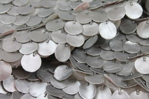 Leatherette Coin Sequin - Silver