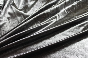 Foiled Silk Velvet - Silver Black