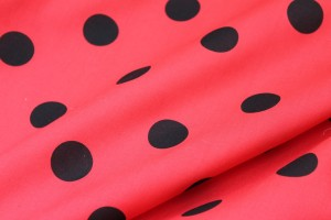 Spot Cotton - Black and Red