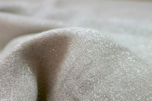 Linen with Lurex - Off White and Silver