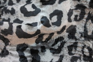 Heavy Cotton Velvet - Black and Grey Leopard