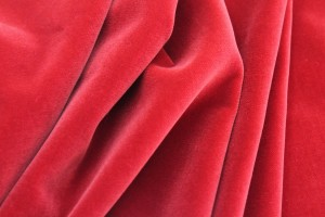 Cotton Velvet - Red