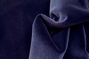 Cotton Velvet - Navy