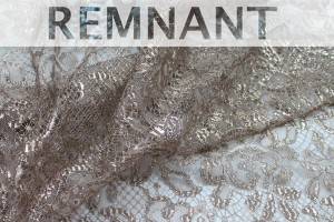 REMNANT - Oyster Leavers Lace - Metallic Oyster - 1.7m piece