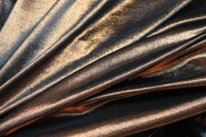 Foiled Silk Velvet - Copper Black