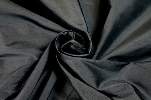 Silk Dupion - Black - B72