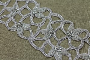 Zari Diamante Trim - Silver