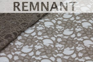 REMNANT - Corded Lace - Mushroom - 1m piece