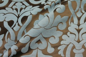 Large Scale Brocade - Blue/Brown