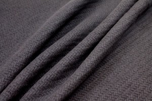 Black Basket Weave Heavy Wool