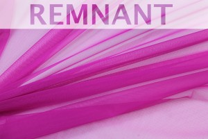REMNANT - Stretch Tulle - Sheer Bodystocking - Magenta - 1m piece