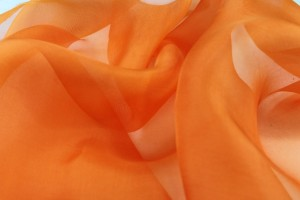 Silk Organza - Bright Orange