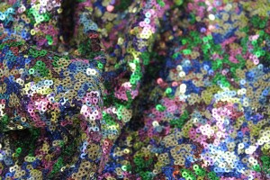Multi Colour Micro Sequin - Yellow / Pinks / Royal