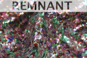REMNANT - Multi Colour Micro Sequin - Greens / Pinks - 1m piece