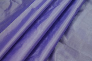 Lightweight Silk Taffeta - Purple shot White