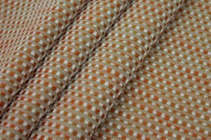 Orange Tweed Texture Brocade