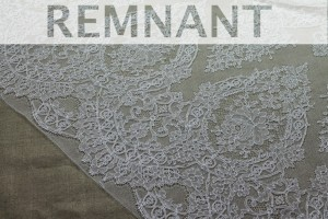 REMNANT - Chantilly Lace - Ivory Single Scallop - 1.25m piece