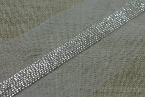 Beaded Micro Trim - Silver - Wide