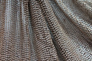 Small Oval Holographic Sequin On Silk Chiffon