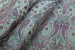Banaras Brocade - Mint and Pink