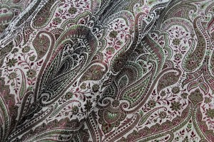 Banaras Brocade - Burgundy and Green