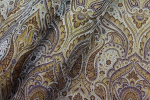 Banaras Brocade - Mustard and Burgundy