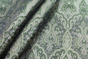 Banaras Brocade - Pale Gold and Green