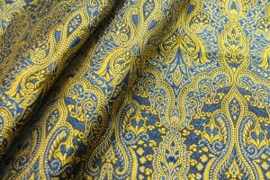 Banaras Brocade - Blue and Yellow