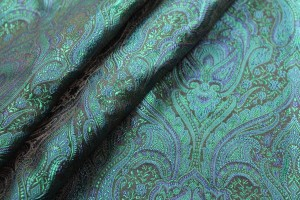 Banaras Brocade - Teal and Peacock