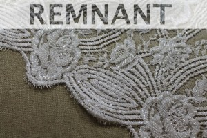 REMNANT - Beaded Leavers Lace - Ivory - 0.8m piece
