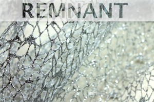 REMNANT - Glitter Mesh Net Fabric - Silver