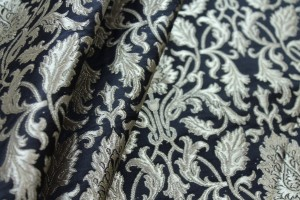 Heavy Banaras Brocade - Black/Gold