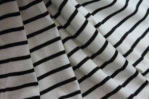 Ivory and Black Stripe Jersey
