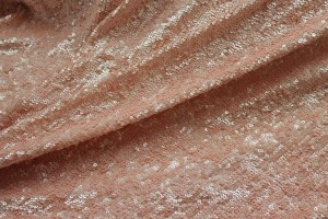 Overlapping Micro Sequin On Silk Chiffon - Pinky Peach
