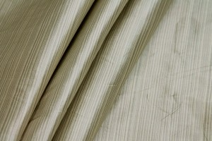 Striped Silk Taffeta - Sand and Grey